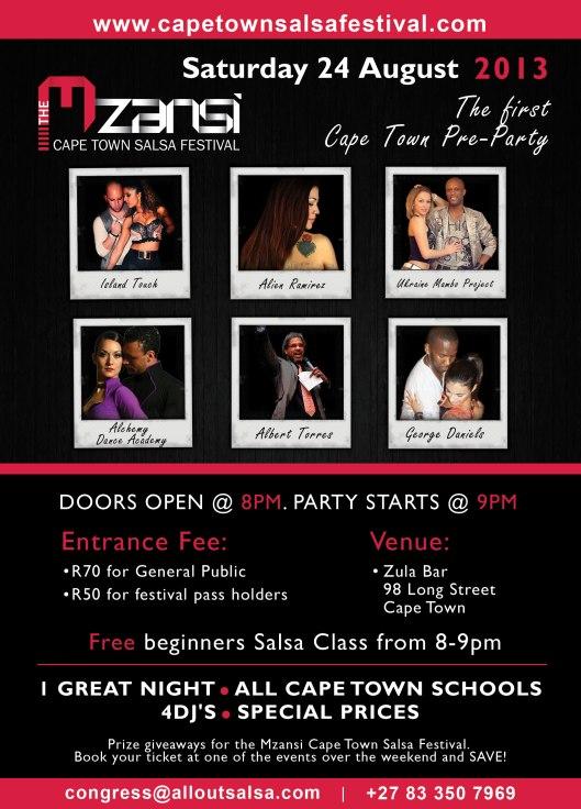 24 August!!!! Mzanzi Cape Town Salsa Festival Pre-Party